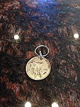 Dominican Republic 25 centavos coin keychain