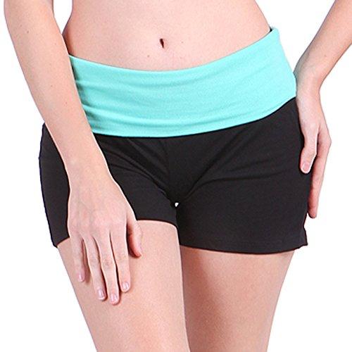 HDE Women's Yoga Workout Shorts Exercise Mini Hot Shorts