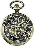 SKYEI Reloj de Bolsillo Elegante clásico.Reloj de Bolsillo, Reloj Retro Magic Dragon Digital Digital Digital Reloj de Bolsillo, Adecuado para Parejas, Amigos, Mejores Regalos,Punk (Color : B)
