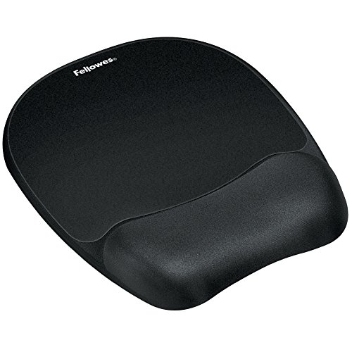 Fellowes Memory Foam Mouse Pad/Wrist Rest, Black (9176501)