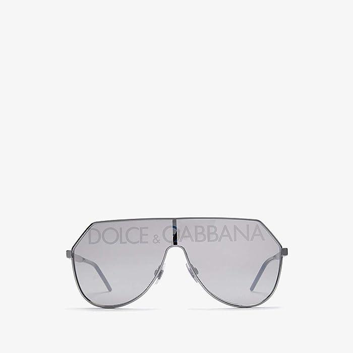 Dolce and Gabbana  DG2221 (Gunmetal/Grey Silver Blue) Fashion Sunglasses