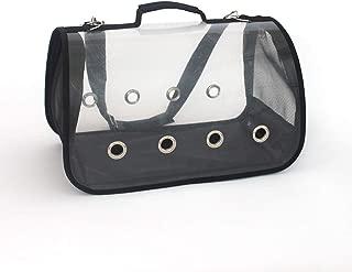 One-Shoulder Pet Carrier Box Portable Outdoor Pet Bag Good Breathable Comfort Multi-Color Optional CQOZ (Color : Black, Size : 40×22×23cm)