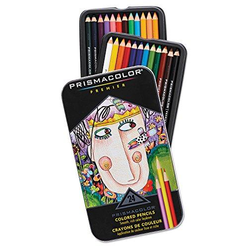 Premier Colored Woodcase Pencils, 24 Assorted Colors/Set - Prismacolor 3597THT