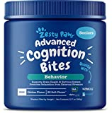 Stay Sharp, Fido! - Zesty Paws Advanced Cognition Bites are chewable supplements with premium ingredients that help with cognitive function, stress, clarity, and focus for your canine companion Featuring DHAgold - At 300 mg per chew, DHAgold is an al...