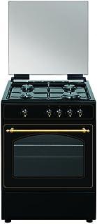 VITROKITCHEN Cocina RU6060B 4F 60CM BUTANO Horno, 64 litros, Antracita