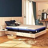 Baldiflex Materasso Singolo a Molle e Memory Hybrid Bros misura 100x190 cm H25 cm
