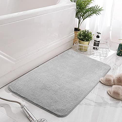 VPOW Badematte, Badteppich rutschfeste, Maschinenwaschbar Badvorleger, Wasserabsorbierende Nachgeahmte Kaschmir Badematten 80 x 50 cm, Weiche Mikrofaser Badezimmerteppich für Badzimmer