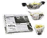 Mannily Papier de cuisine de qualité alimentaire - Papier pour garnitures de panier–Papier...