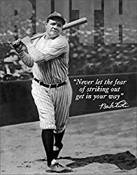 Image: Poster Discount Babe Ruth No Fear - Retro Tin Sign, 12x16