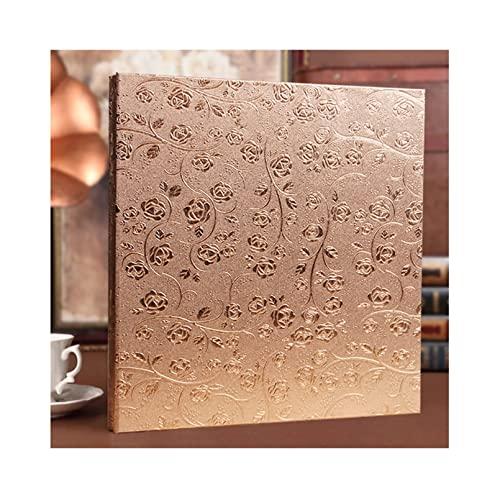 mozhixue Cubierta de Cuero Album de Fotos 4x6 400/800 Fotos Álbum de Fotos de Gran Capacidad para Día de San Valentín Presente Memoria de Boda Álbum,Champagne Gold b,400 Sheets