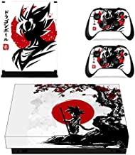 HolaCase4UProtective Vinyl Skin Decal Cover for Xbox One X Console Wrap Sticker Skins with Two Free Wireless Controller Decals SON GOKU