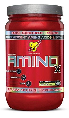 BSN Amino X - Suplementos deportivos, sabor cola con lima - 435 g