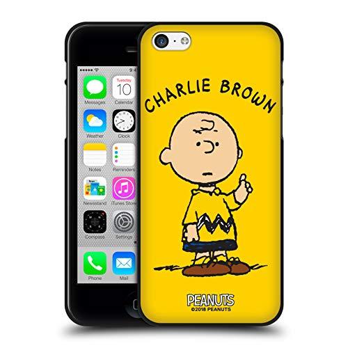 Head Case Designs Oficial Peanuts Charlie Brown Personajes Funda de Gel Negro Compatible con Apple iPhone 5 / iPhone 5s / iPhone SE 2016