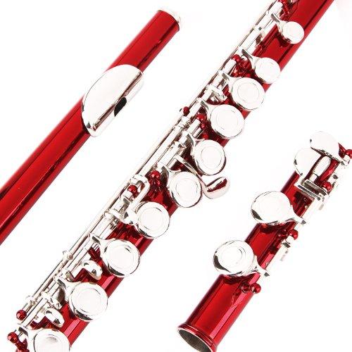 Flauta Glory Closed, agujero c, flauta con funda, varilla de entonado y gamuza, con grasa y guantes, Azul Sea