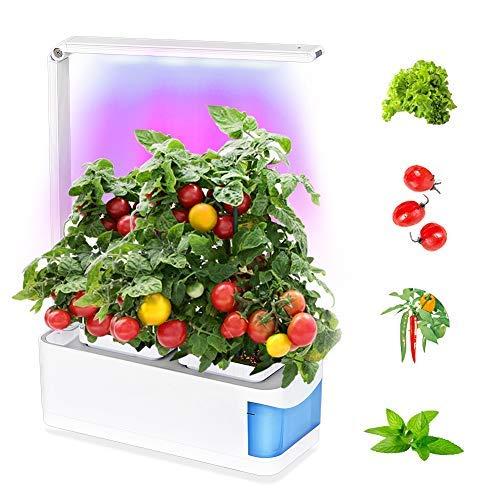 Smart Indoor Garden Kit Herb Garden Hydroponics Growing System Led Desktop Growing Light para la Sala de Estar Cocina Oficina Smart Indoor Herb Garden Grow Lámpara para Flor Fruta