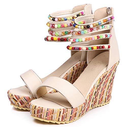 Briskorry Zapatillas de correr para mujer, ligeras, con cuña, para el tiempo libre, transpirables, con cordones, cómodas zapatillas de deporte