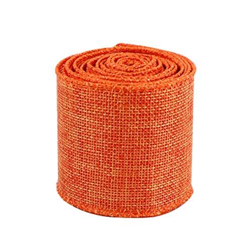 Fransande - Cinta de tela escocesa con cable de 63 mm para artesanía, hecha a mano, embalaje floral para boda No?L Artesanía J