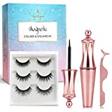Arishine Magnetic Eyeliner and Magnetic Eyelash Kit - Magnetic Eyelashes with Eyeliner - Eyelashes With Natural Look - Comes with Applicator - no Glue Needed P