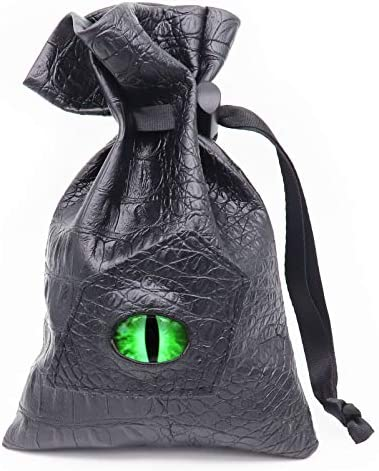 Haxtec Dragon Eye Dice Bag Glow in The Dark Eye Drawstring Leather DND Dice Pouch Storage Bag product image