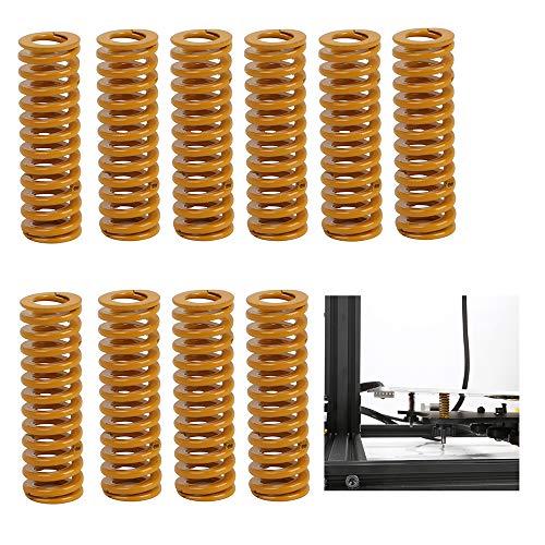 Creality Original 3D Printer Parts 8mm OD 25mm Length Compression Mould Die Springs Light Load for Heated Bed Ender 3/Ender 3 Pro/Ender 3 V2/Ender 3 Max/CR-10 CR-10Mini CR-10S 3D Printer (Pack of 10)