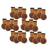 POFET - Juego de 24 calcetines para patas de silla con almohadillas de fieltro, botas elásticas de punto para muebles, patas de madera gruesa, protectores de patas para muebles(marrón)