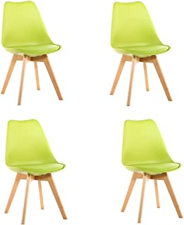 Sillas de comedor modernas: juego de 4 sillas de comedor, patas de madera maciza de diseño moderno con almohadilla acolchada for salón / cocina de oficina Adecuado for sala de estar, dormitorio y coci