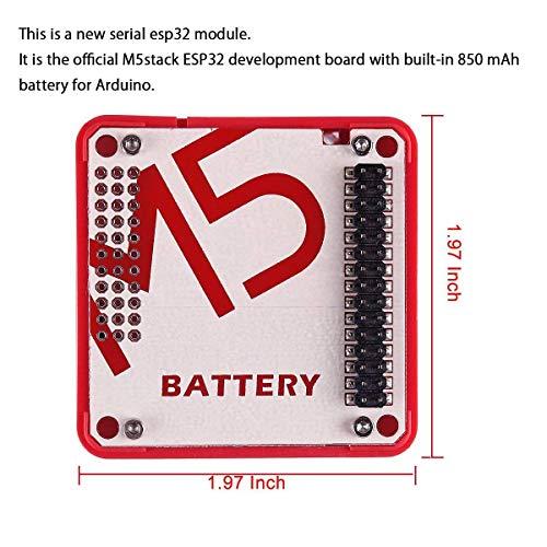 ARCELI Module de Stock Officiel de la Carte de développement M5stack ESP32 avec Batterie intégrée 850mAh, IoT empilable pour Arduino ESP32