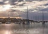 Malerische Ostsee (Wandkalender 2022 DIN A2 quer): Kunstvoll bearbeitete Fotos von Häfen und Stränden der Ostseeküste (Monatskalender, 14 Seiten )