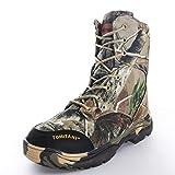 LiliChan Men's Outdoor High-Top Lacing up Waterproof Trekking Camouflage Tactical Hunting Boots