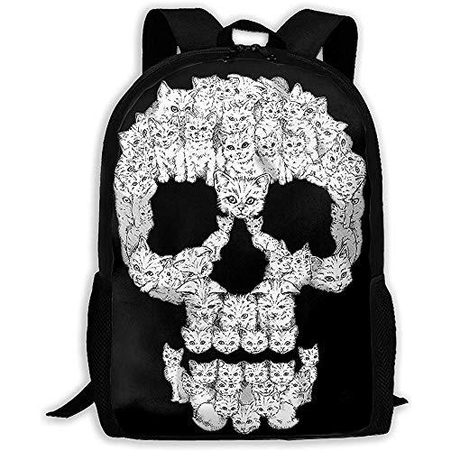 Unisex Adult Rucksack Schädel sind für Fotzen Bookbag Reisetasche Schultaschen Laptoptasche