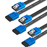 BENFEI SATA Cable III, 3 Pack SATA Cable III 6Gbps Straight HDD SDD Data Cable with Locking Latch 18 Inch Compatible for SATA HDD, SSD, CD Driver, CD Writer