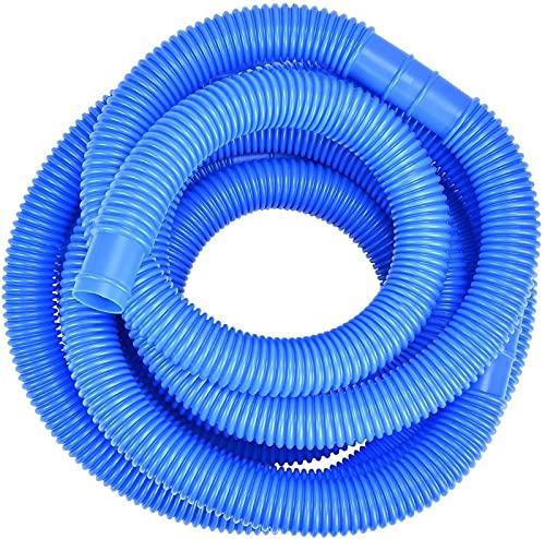 Poolschlauch 32mm Pool Schlauch, Blau 6.6 Meter, Schwimmbadschlauch Für Garten & Schwimmbad I Solarschlauch I Saugschlauch I Pumpenschlauch I Flexibel Wasserschlauch (6Meter)