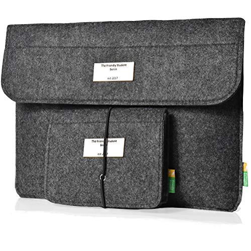 The Friendly Student MacBook Pro hülle 13 Zoll Filz - Kein Fusseln Dank Beschichtung - Edle 13,3 MacBook Air Tasche für unterwegs, auch mit Hardcase
