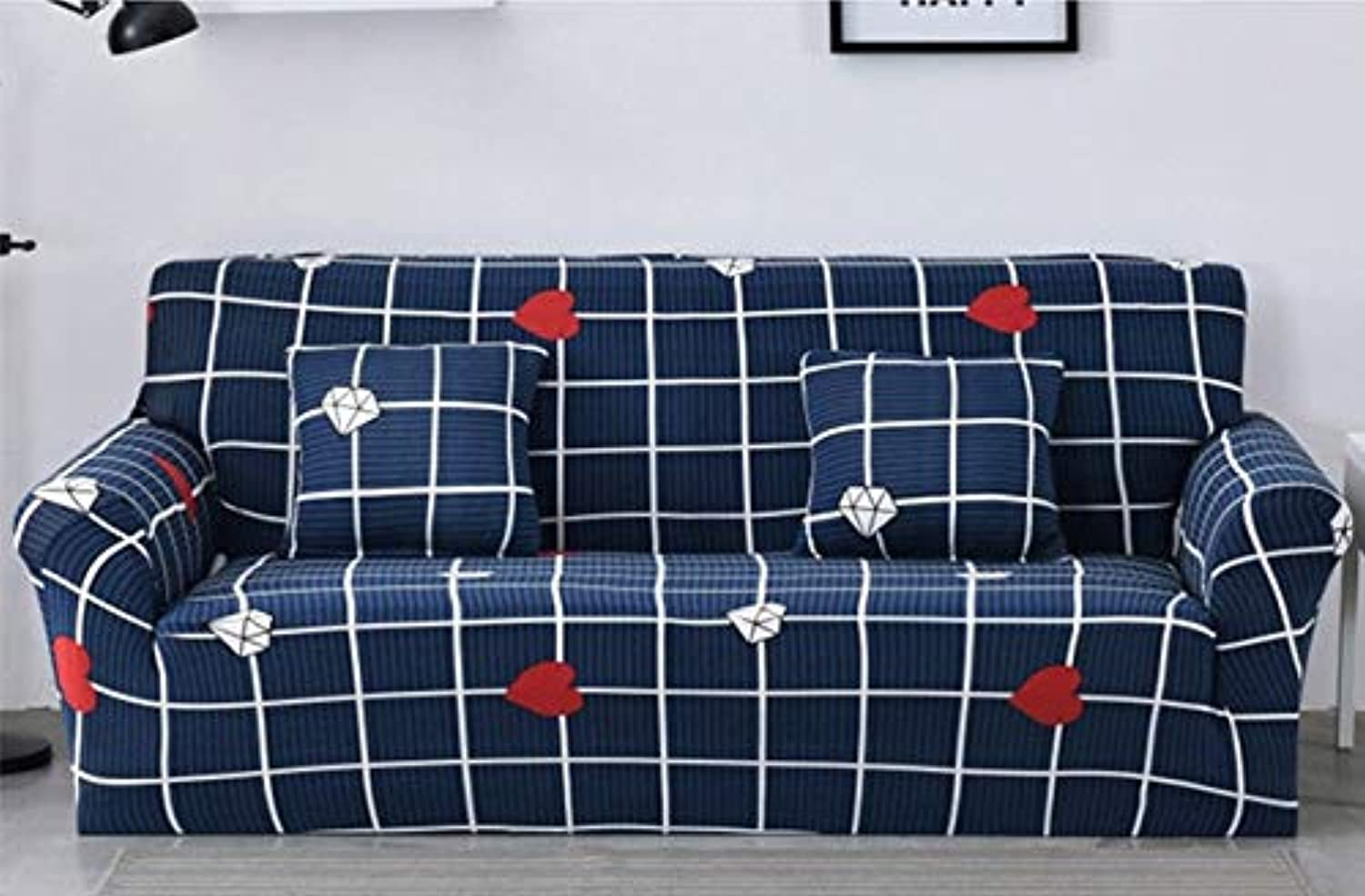 Geometic Stretch Sofa Cover for Lig Room Big Elasticity Corner Couch Sofa Cover Soft Anti-Dirty Slip   2, Single Seater
