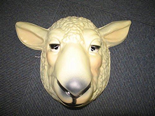 Party-Discount KMU16106624 Hartplastik Tier-Maske für Erwachsene Schaf