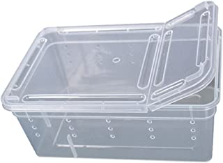 Hypeety Reptile Box for Snake Turtle Breeding Box Case Feeding Hatching Container