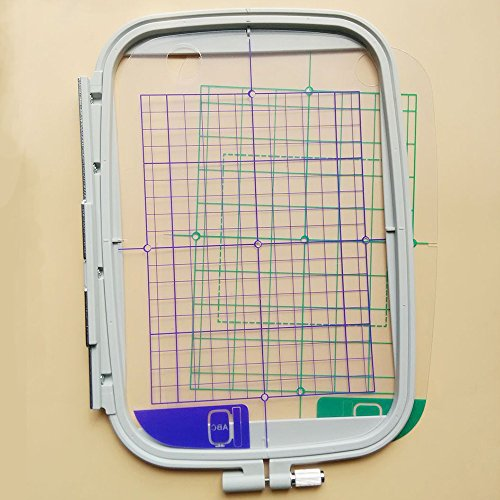 Ginode 4PCS Embroidery Hoop Set for Brother Machines Replaces SA442 SA443 SA444 SA445 Hoops for Brother Machines PE700,PE700LL, PE750D, PE770,PE780D, LNNOVIS1000 (150100MM)
