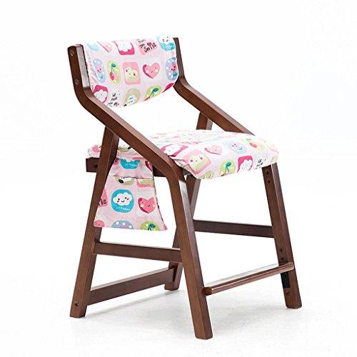 HLD Verstelbare hoogte 43-54 cm massief houten stoel afneembare gemakkelijk te reinigen stoelbekleding kinderstoel stoel stoel stoelen stoelen