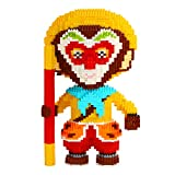 Larcele Mini Building Blocks Monkey King Building Toy Bricks,3496 Pieces KLJM-02 (Monkey King,Model 4748)