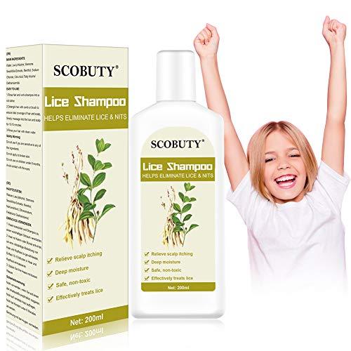 Läuse Shampoo,Anti läuse,Kopfläuse Shampoo,Anti-Läusebehandlung Verhindern Sie Kopfläuse Juckende Kopfhaut Shampoo für Kinder Frauen Haarpflege