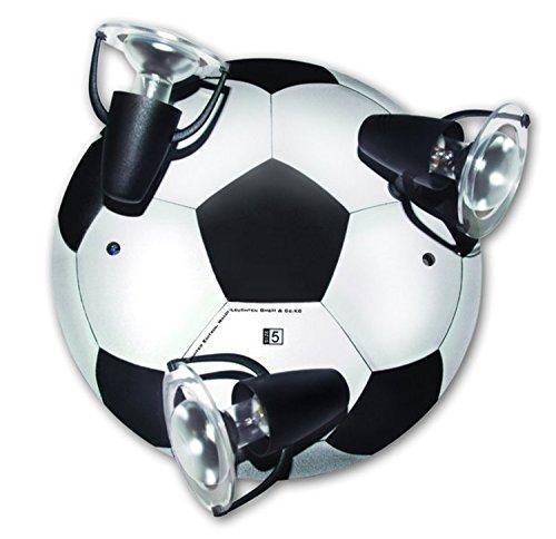 LED Deckenleuchte Fußball schwarz weiß für 3x LED Lampe max 40 Watt