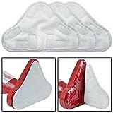 LAYEN Lot de 3 lingettes microfibres lavables pour balai vapeur H2O 5 en 1