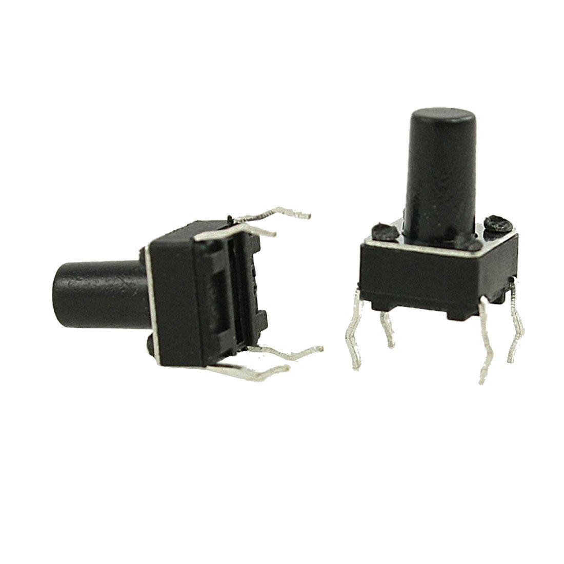 uxcell 100 Pcs 6 x 6mm 9.5mm Tactile B Tact Momentary PCB Max 41% OFF Push Max 64% OFF