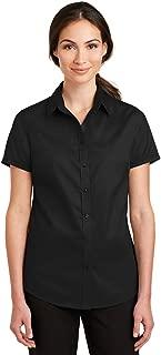 Port Authority Ladies Short Sleeve SuperPro Twill Shirt-L664-XS
