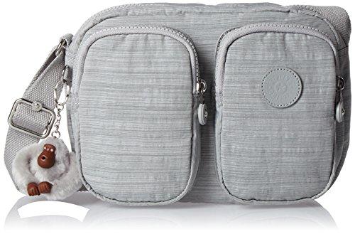 Kipling Patti, Damen Umhängetasche, Grey (Dazz Grey), 25x19x8.5 cm (W x H x L)
