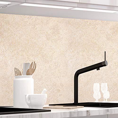 StickerProfis Küchenrückwand selbstklebend - Sandstein TRAVERTIN - 1.5mm, Versteift, alle Untergründe, Hart PET Material, Premium 60 x 280cm