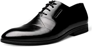 [HAPPYDAY] ビジネスシューズ 本革 メンズ レースアップ ポインテッドトゥ 内羽根 革靴 皮靴 黒 小さいサイズ フォーマル 結婚式 ドレスシューズ カジュアル ビジネス 冠婚葬祭 ヒール スーツ 紳士靴 就活