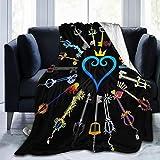Hearts-Keyblades Ultra Soft Fleece Blanket Flannel Velvet Plush Throw Blanket,80x60in