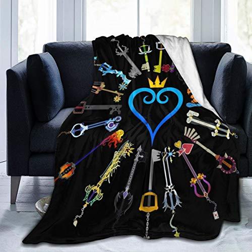 XTGOO Hearts Keyblades - Manta de franela de felpa ultrasuave