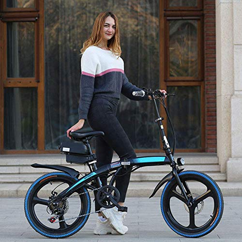 YAMMY Elektrofahrräder, klappbares Elektrofahrrad aus Kohlenstoffstahl, 20